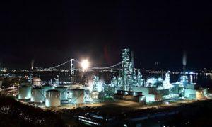 北海道室蘭市工場夜景