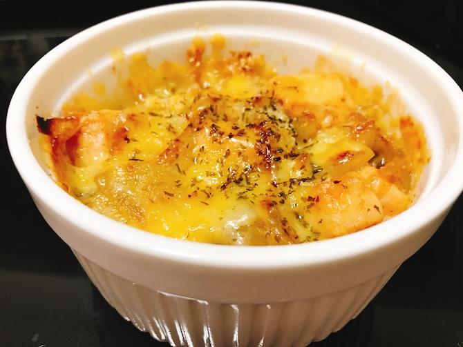 サーモンとオニオンのチーズ焼き