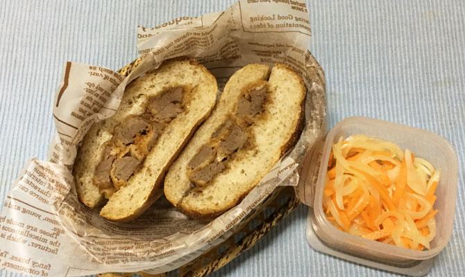 エゾシカ肉のヒレかつバーガー
