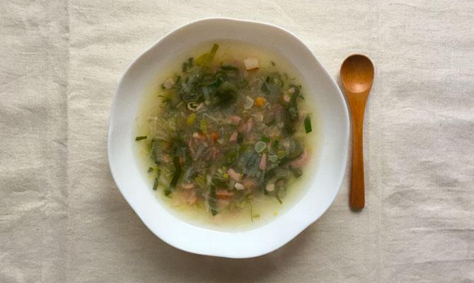 下仁田ネギのスープはすーぷ
