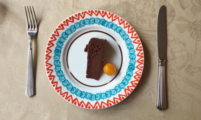 オーガニックのチョコレートケーキ
